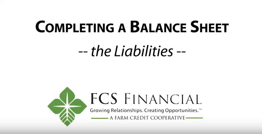 How to complete the liabilities portion of the balance sheet