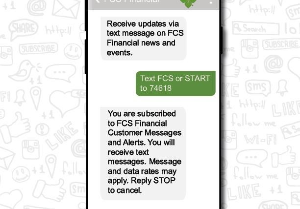 receive text messages from FCS Financial