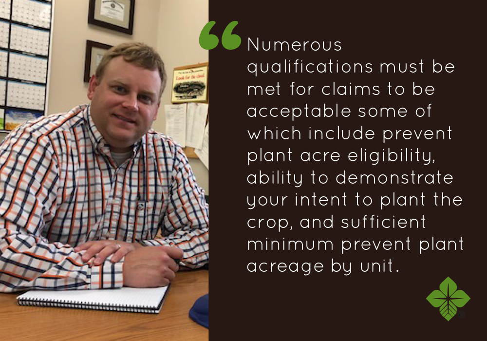 Corn prevent planting quote from Shane Albertson, FCS Financial