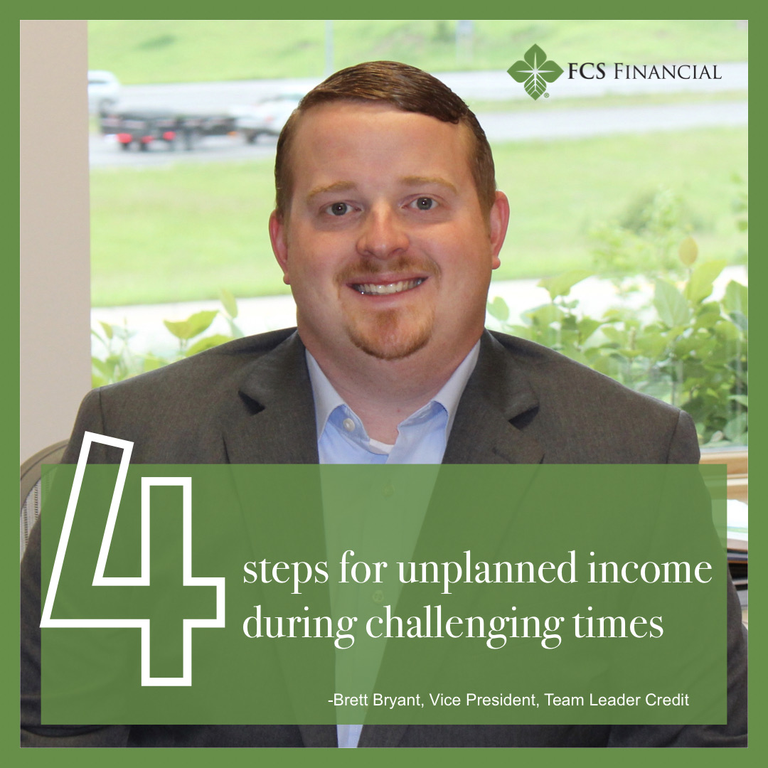 4 steps for unplanned income